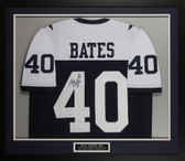Bill Bates Autographed & Framed White Dallas Dallas Cowboys Jersey JSA COA