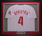 Lenny Dykstra Autographed & Framed Pinstriped Philadelphia Phillies Jersey JSA COA