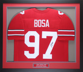 Joey Bosa Autographed & Framed Red Ohio State Jersey JSA COA D2-M