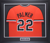 Jim Palmer Autographed & Framed Orange Baltimore Orioles Jersey Auto JSA COA