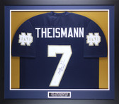 Joe Theismann Autographed & Framed Navy Notre Dame Fighting Irish Jersey Auto JSA COA