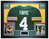 Brett Favre Autographed and Framed Green Green Bay Packers Jersey Favre COA