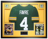 Brett Favre Autographed and Framed Green Bay Packers Jersey Favre COA