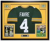Brett Favre Autographed Framed Green Green Bay Packers Jersey Auto Favre COA