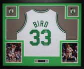 Larry Bird Autographed and Framed White Boston Celtics Jersey Auto PSA