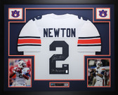Cam Newton Autographed & Framed White Auburn Tigers Tigers Jersey Auto PSA COA