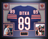 Mike Ditka Autographed and Framed Navy Chicago Bears Jersey Auto PSA COA