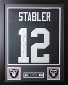 Ken Stabler Framed and Autographed Black Raiders Jersey JSA COA (D1-S)