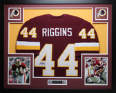 John Riggins Autographed and Framed Burgundy Washington Redskins Jersey Auto JSA COA