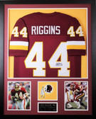 John Riggins Autographed and Framed Burgundy Washington Redskins Jersey JSA COA