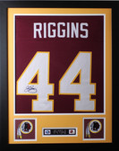 John Riggins Framed and Autographed Burgundy Washington Redskins Jersey JSA COA