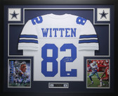 Jason Witten Autographed and Framed White Dallas Cowboys Jersey Auto JSA COA