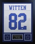 Jason Witten Autographed & Framed White Dallas Cowboys Jersey Auto JSA COA