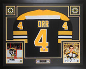 Bobby Orr Autographed and Framed Black Boston Bruins CCM Jersey PSA and GNR COA