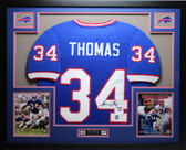 Thurman Thomas Autographed HOF 07 Framed Blue Buffalo Bills Jersey Auto JSA COA