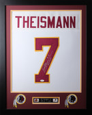 Joe Theismann Framed and Autographed White Washington Redskins Jersey JSA COA