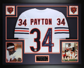 Walter Payton Autographed and Framed White Bears Jersey Auto PSA COA (D1-L)