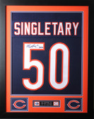 Mike Singletary Framed and Autographed HOF 98 Navy Chicago Bears Jersey JSA COA