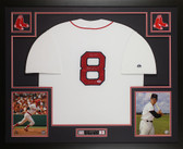 Carl Yastrzemski Autographed YAZ and Framed White Boston Red Sox Jersey PSA COA