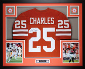 Jamaal Charles Autographed and Framed Orange UT Texas Longhorns Jersey Auto GTSM Certified