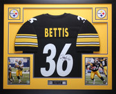 Jerome Bettis Autographed and Framed Black Pittsburgh Steelers Jersey Auto JSA Certified