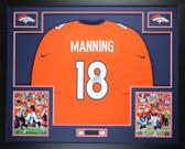 Peyton Manning Autographed & Framed Orange Denver Broncos Jersey Auto Steiner COA