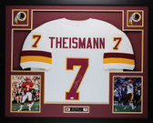 Joe Theismann Autographed 83 MVP and Framed White Washington Redskins Jersey JSA COA