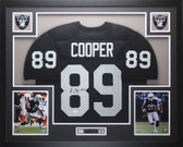 Amari Cooper Autographed and Framed Black Oakland Raiders Jersey Auto JSA COA
