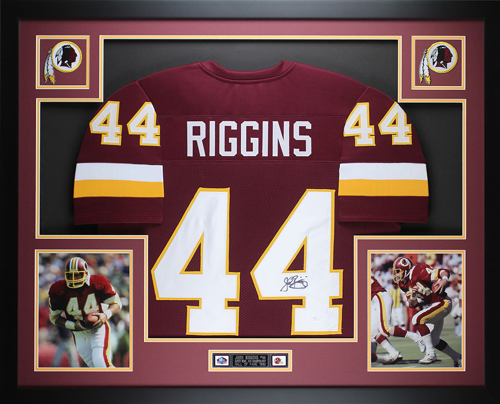 the best attitude 17871 63929 John Riggins Autographed and Framed Maroon Redskins Jersey