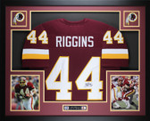 John Riggins Autographed and Framed Burgundy Washington Redskins Jersey Auto JSA Certified