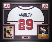 John Smoltz Autographed & Framed White Atlanta Braves Jersey Auto JSA COA