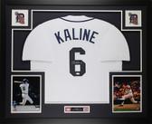 Al Kaline Autographed & Framed White Detroit Tigers Jersey Auto JSA COA