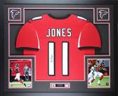 Julio Jones Autographed & Framed Red Atlanta Falcons Jersey Auto JSA COA