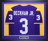 Odell Beckham Jr Autographed and Framed Purple LSU Tigers Jersey Auto JSA COA