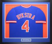Lenny Dykstra Autographed & Framed Blue New York Mets Jersey JSA COA