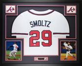 John Smoltz Autographed & Framed White Atlanta Braves Jersey Auto JSA Certified