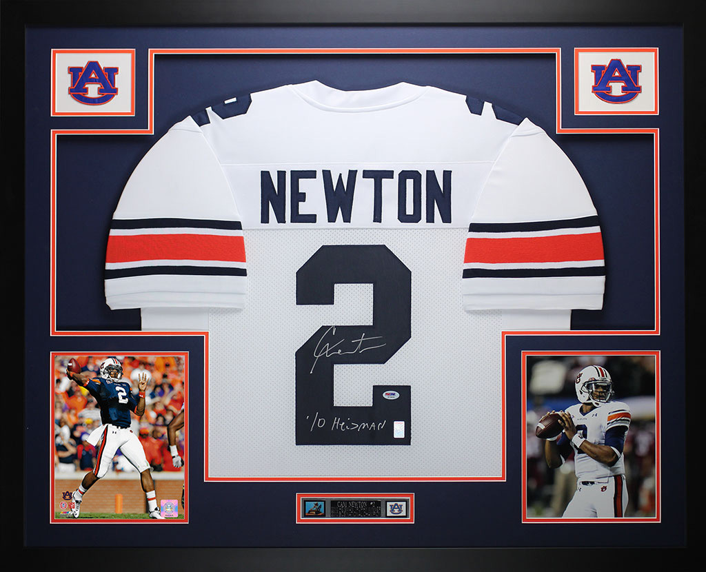 competitive price f5467 e596c Cam Newton Autographed and Framed White Auburn Jersey