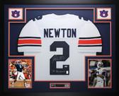 Cam Newton Autographed and Framed White Auburn Tigers Jersey Auto PSA COA