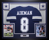 Troy Aikman Autographed and Framed Blue Dallas Cowboys Jersey PSA Certified