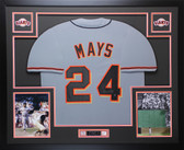 Willie Mays Autographed and Framed Gray San Francisco Giants Jersey Auto Say Hey COA