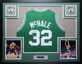 Kevin McHale Autographed & Framed Greem Boston Celtics Jersey Auto JSA COA