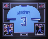 Dale Murphy Autographed & Framed Blue Atlanta Braves Jersey Auto MLB COA