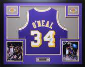 Shaquille O'Neal Autographed & Framed Purple Los Angeles Lakers Jersey Auto JSA COA