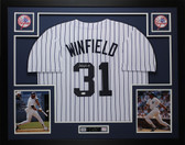 Dave Winfield Autographed and Framed New York Yankees White Pinstriped Jersey JSA COA