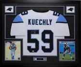 Luke Kuechly Autographed & Framed White Carolina Panthers Jersey Auto JSA COA