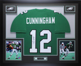 Randall Cunningham Autographed and Framed Philadelphia Eagles Jersey Auto JSA COA