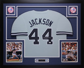 Reggie Jackson Autographed and Framed New York Yankees Gray Jersey JSA COA