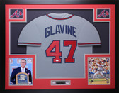 Tom Glavine Autographed and Framed Gray Atlanta Braves Jersey Auto JSA COA