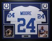 "Lenny Moore Autographed ""HOF 75"" & Framed White Baltimore Colts Jersey Auto JSA COA"