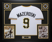 Bill Mazeroski Autographed & Framed White Pittsburgh Pirates JSA COA